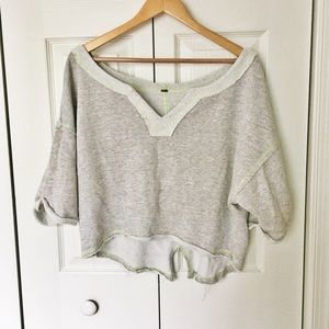 Free People terry knit cropped sweatshirt